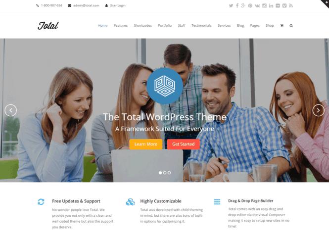 Thème WordPress polyvalent Glisser & Déposer
