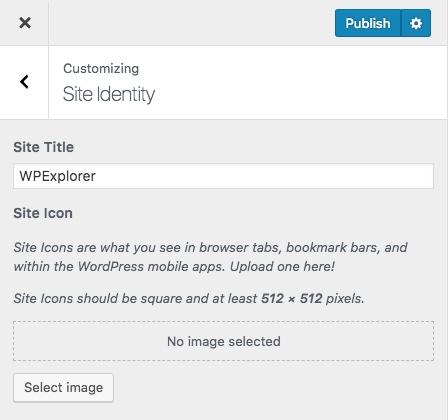 Идентичность сайта WordPress