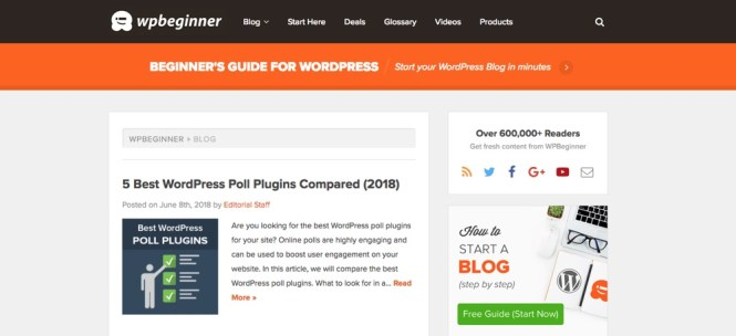 Blogs WordPress à suivre - WPBeginner