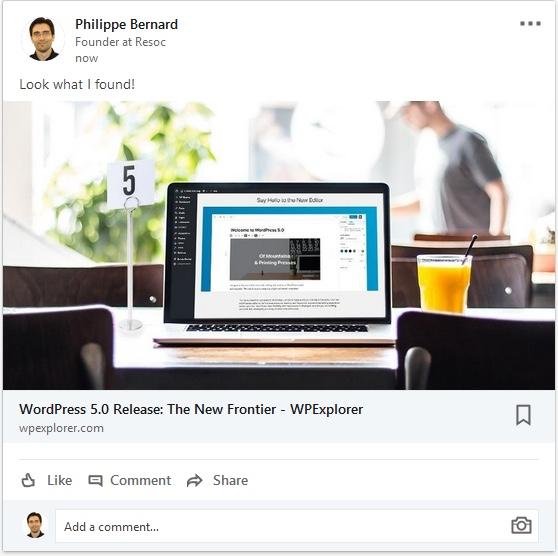 Статья LinkedIn Поделиться