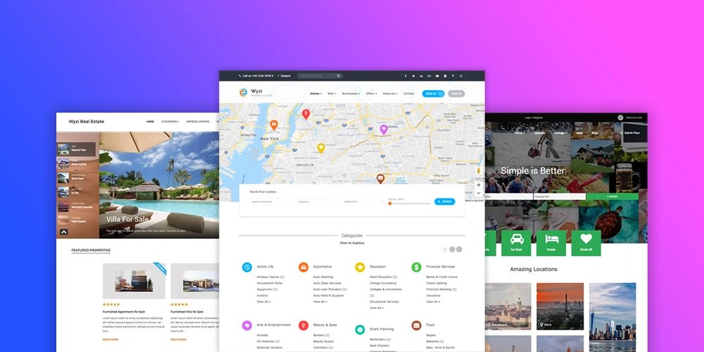 Wyzi Business Finder and Social Look Directory Listing Theme