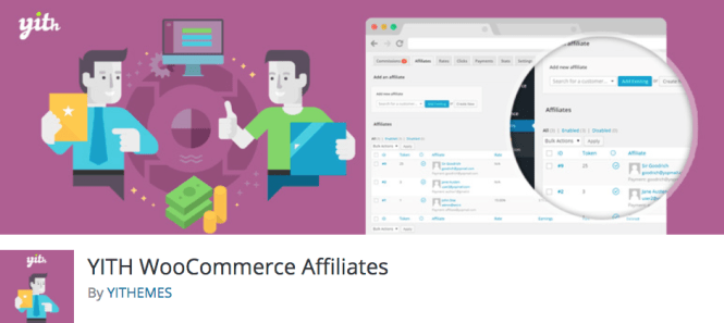 Meilleurs plugins d'affiliation WordPress: YITH WooCommerce Affiliates