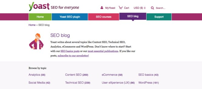 Blogs WordPress à suivre - Yoast SEO