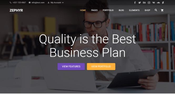 Zephyr Material Design Thème WordPress