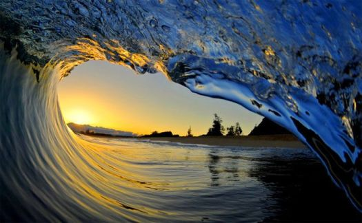 Beautiful Pacific wave...