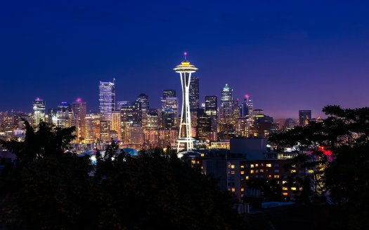 Seattle at night...