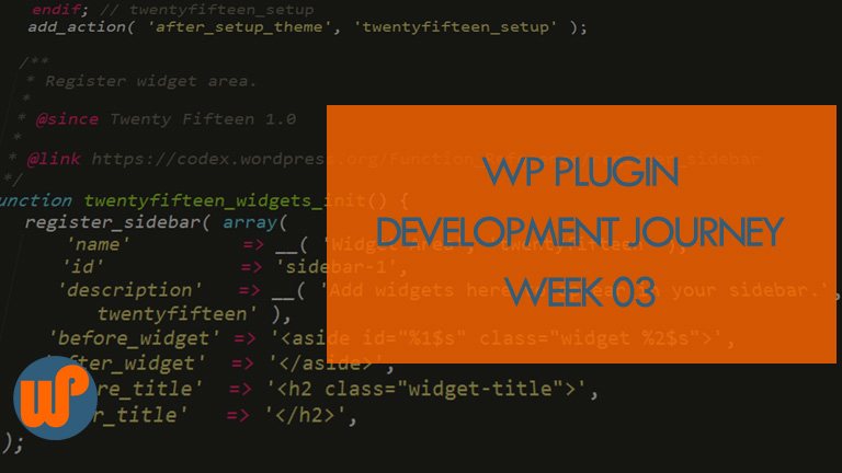 Week 03: WP Plugin Dev Journey – Another Plugin Created But…