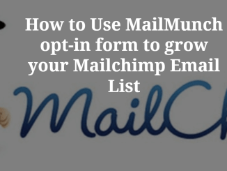 How to use MailMunch to grow Mailchimp Email List