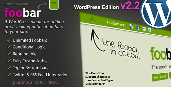 foobar WordPress Notifier plugin