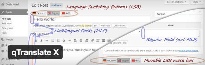 qtranslate-x How to Build a Multilingual Site in WordPress