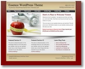 Immagine del tema wordpress Essence in azione