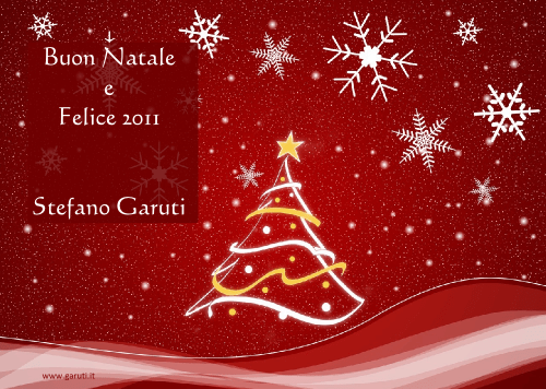 Buon Natale e Felice 2010 - Stefano Garuti - WordPressMania
