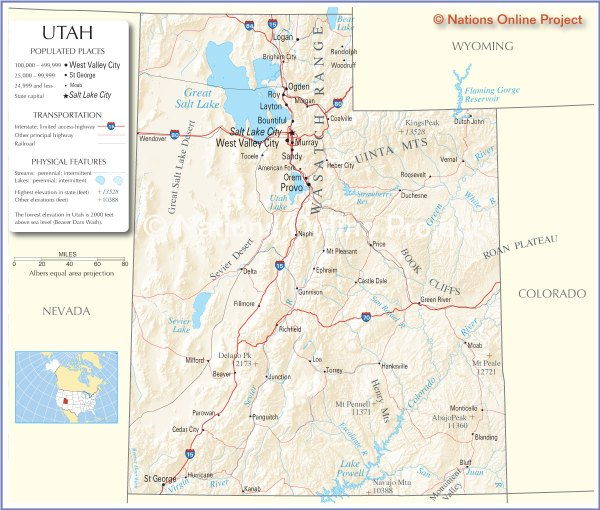 map of utah America Maps Map Pictures