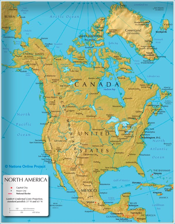 america maps with cities America Maps Map Pictures