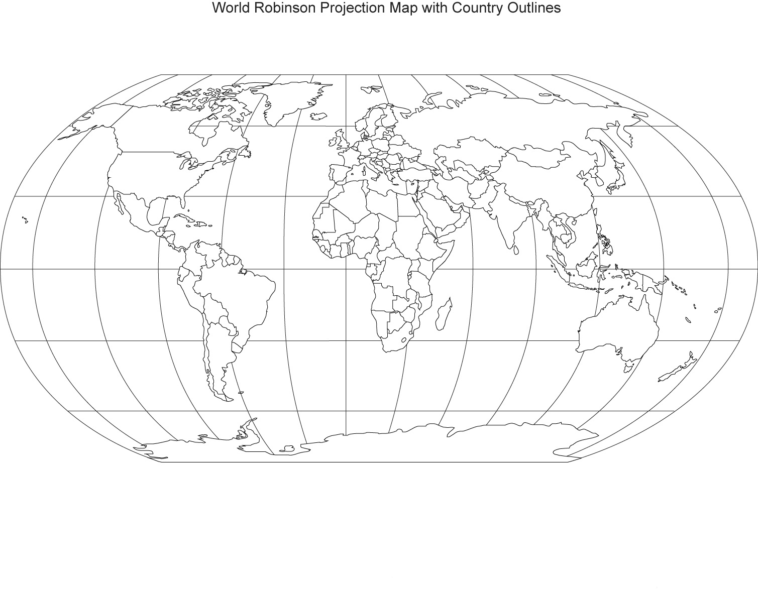 Printable World Maps