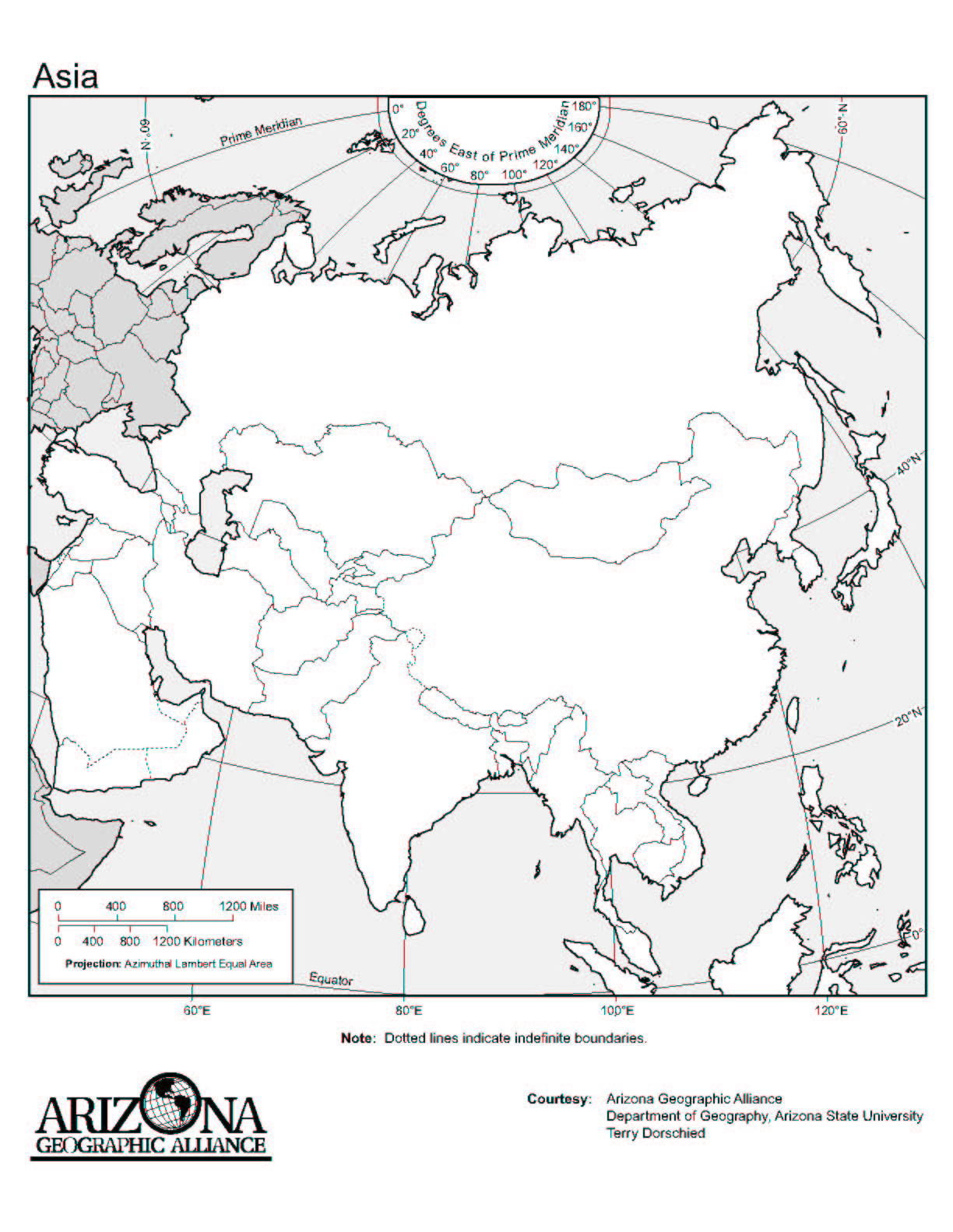 Africa Map With Countries Worksheet