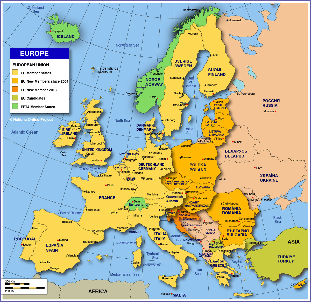 europe map hd with