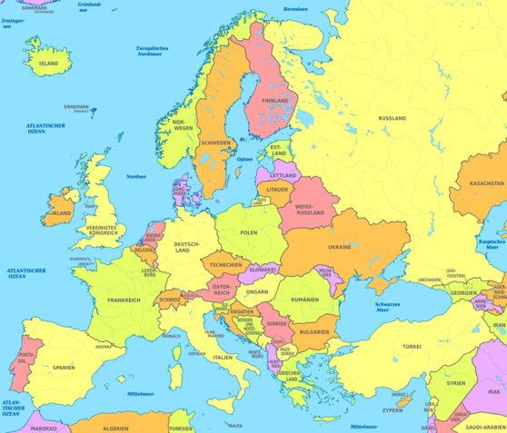 europe map hd with countries