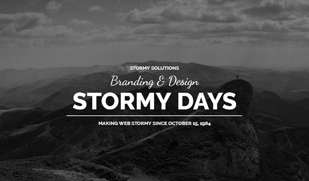 Stormyday WordPress Theme