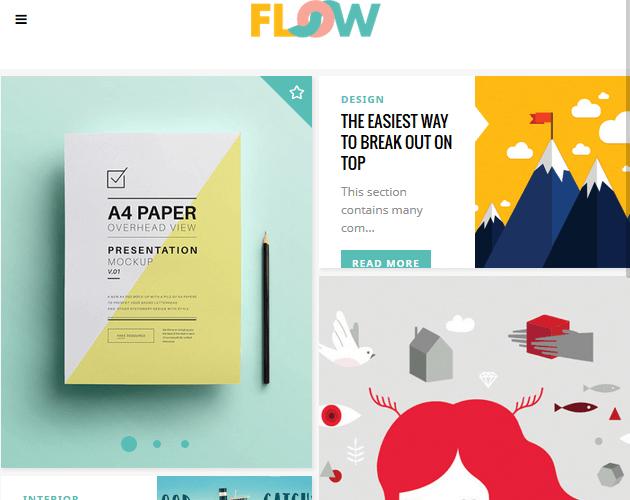 Flow - WordPress Animation Themes