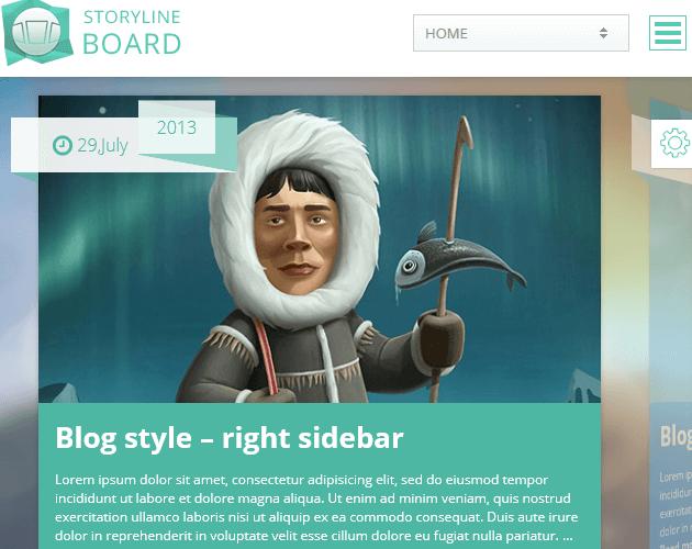 Storyline Board - WordPress Animation Themes