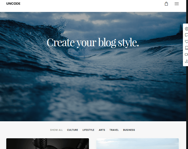 Uncode - WordPress Animation Themes