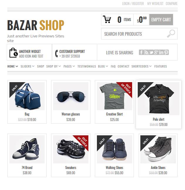 Bazar Shop - eCommerce WordPress Themes