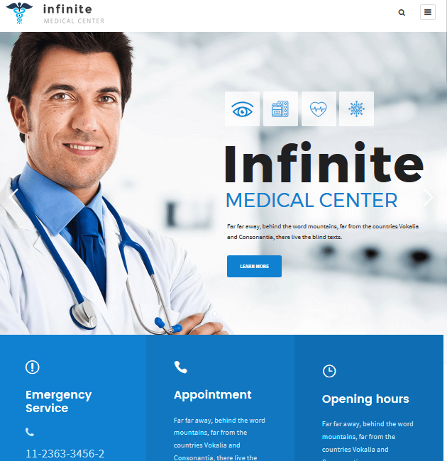 Infinite - WordPress Doctor Themes