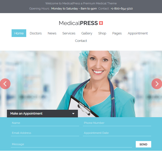 MedicalPress - WordPress Doctor Themes