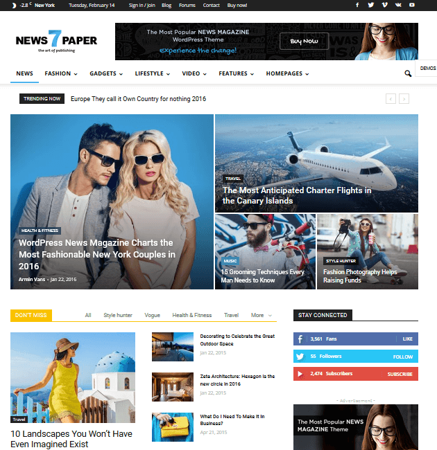 Newspaper - Ad-Space WordPress Themes