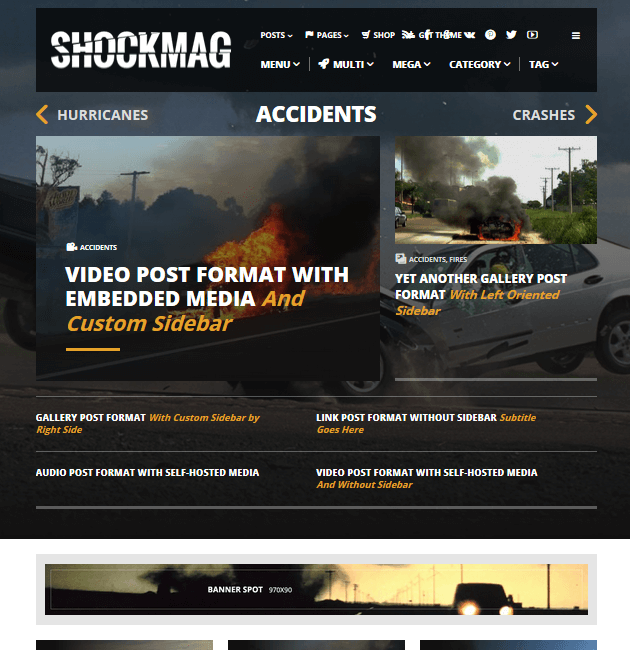 Shockmag - Ad-Space WordPress Themes