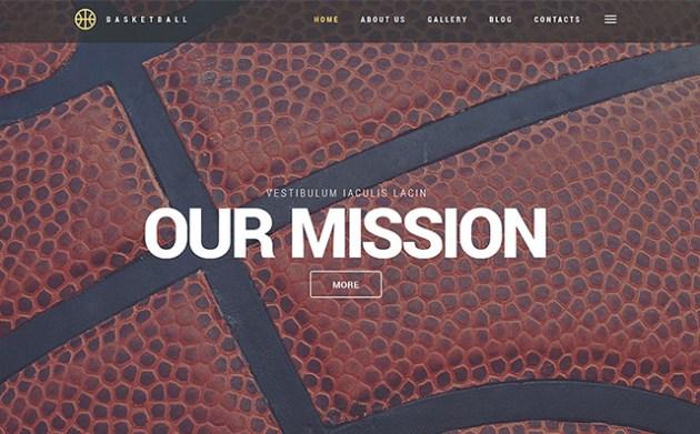 Basketball WordPress Theme
