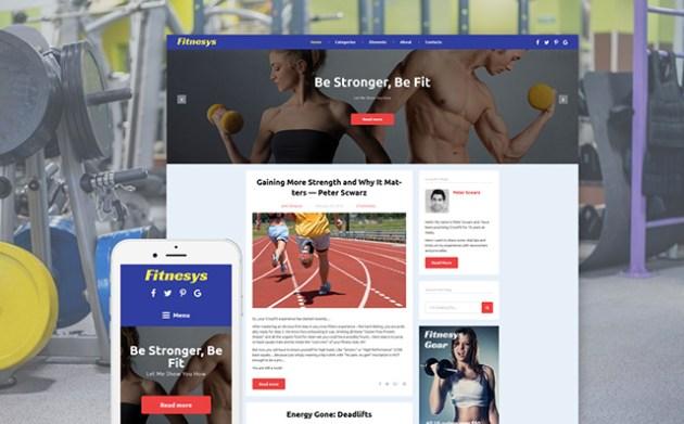 Fitnesys - Fitness Blog GPL WordPress Theme
