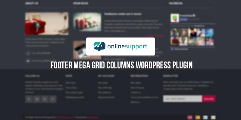 Footer Mega Grid Columns – WordPress Plugin