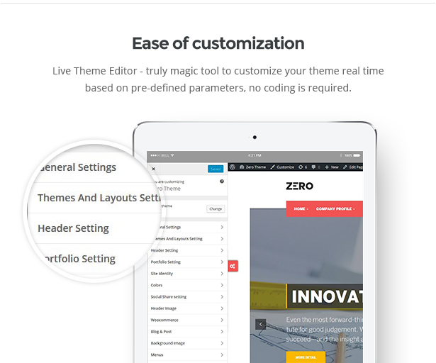 ease of customization