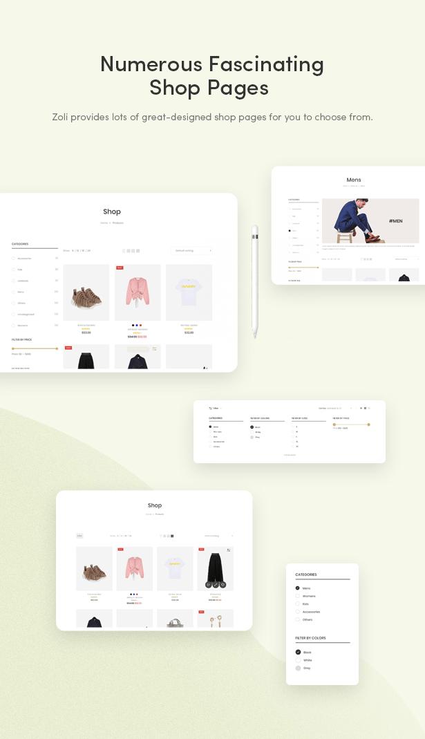 Offer Various Fantastic Shop Pages - Zoli - Minimal & Modern Fashion WooCommerce WordPress Theme