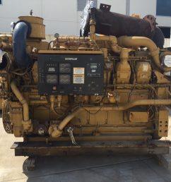 used cat 3512b marine propulsion engine [ 1133 x 850 Pixel ]