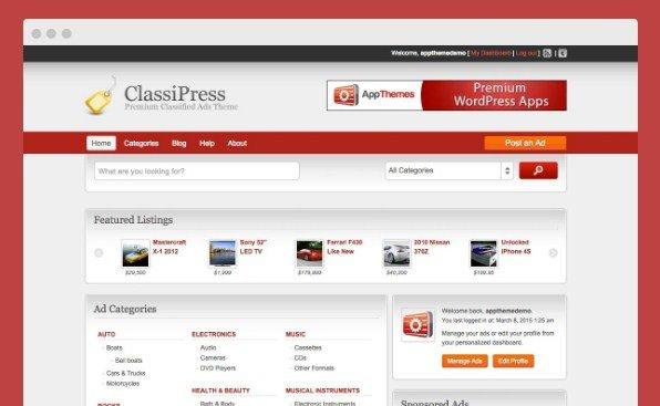 AppThemes ClassiPress WordPress Themes