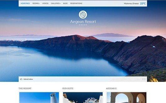 CSS Igniter Aegean Resort WordPress Theme