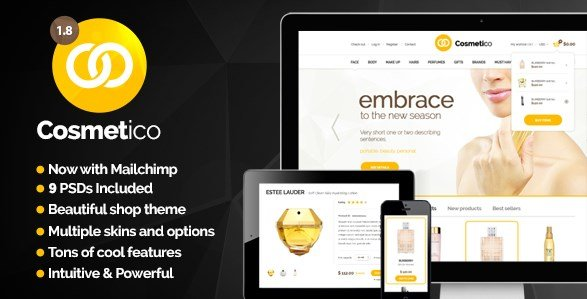 Cosmetico - Responsive eCommerce WordPress Theme
