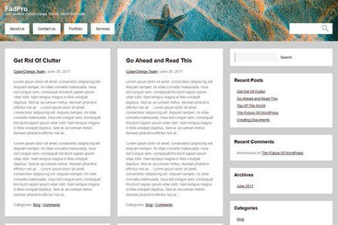 CyberChimps FadPro WordPress Theme