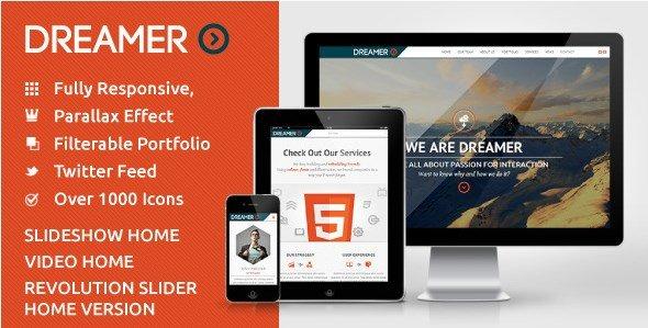 Dreamer - Photo & Video Parallax WordPress Theme
