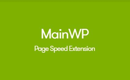 MainWP Page Speed Extension