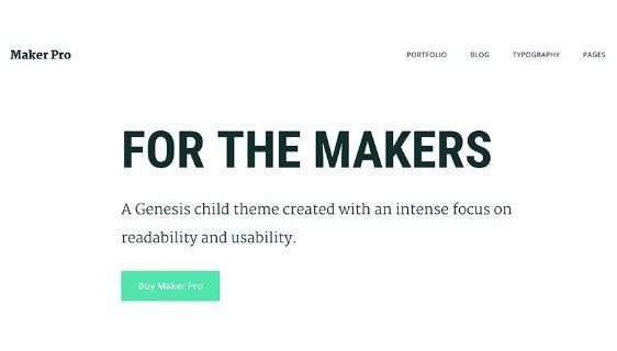 StudioPress Maker Pro Theme