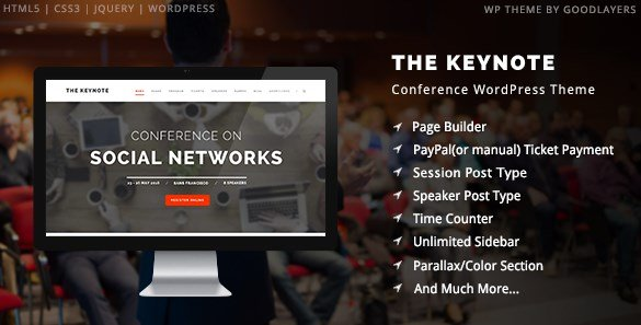 The Keynote - Conference Event Meeting WordPress Theme