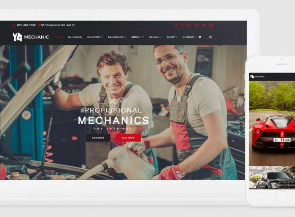 VisualModo Mechanic WordPress Theme
