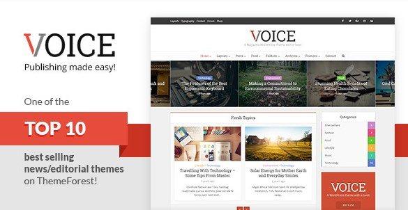 Voice - Clean News Magazine WordPress Theme