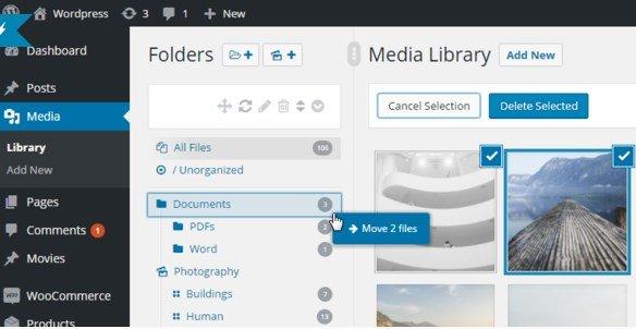 WordPress Real Media Library - Media Categories & Folders