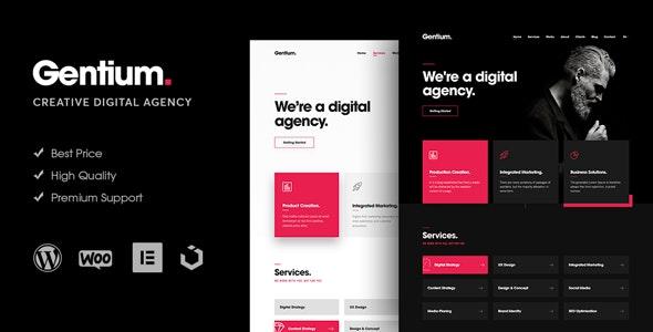 Gentium - A Creative Digital Agency WordPress Theme