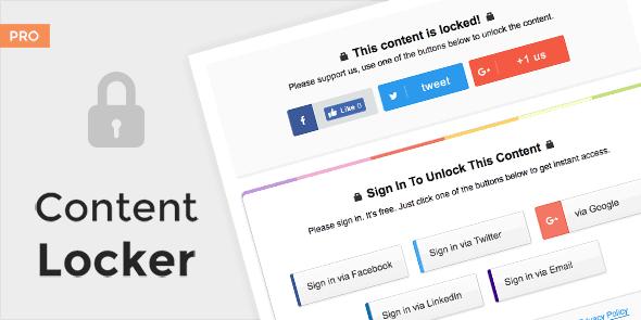 MyThemeShop Content Locker Pro WordPress Plugin